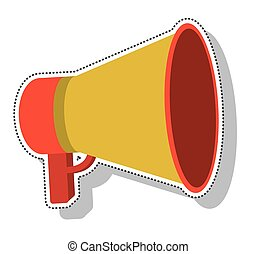 megaphone silhouette isolated icon vector illustration design