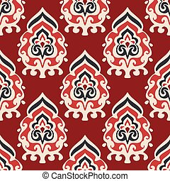 Seamless damask vector pattern for fabric
