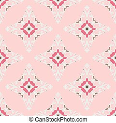 Cute pink Seamless abstract tiled pattern