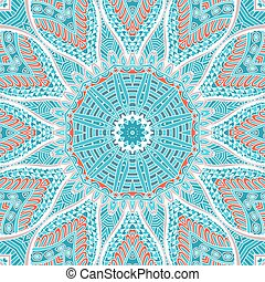 blue round ornamental lace background