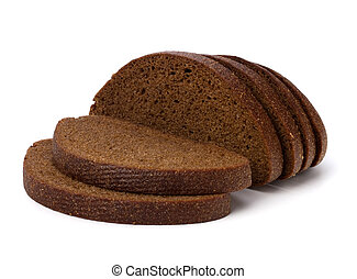rye bread isol ted on the white background