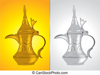 Traditional arabic coffee