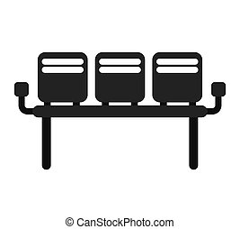 waiting room chairs isolated icon vector illustration design