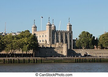 Tower of London across River Thames