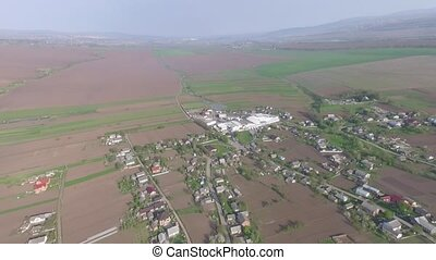 landscape outskirts of the town. drone view. - landscape...