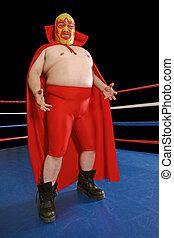 Mexican wrestler - Photograph of a Mexican wrestler or...