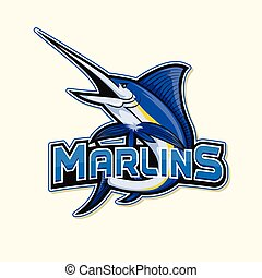 marlin logo illustration design