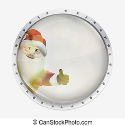 santa claus like icon design