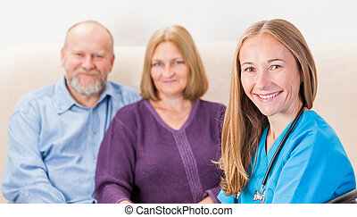 Couples therapy - Photo of a couple at the doctor