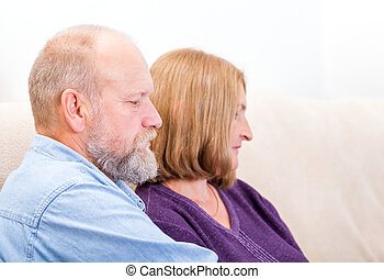 Family conflict - Close up photo of unhappy middle aged...
