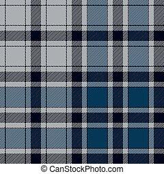 Blue check plaid seamless pattern
