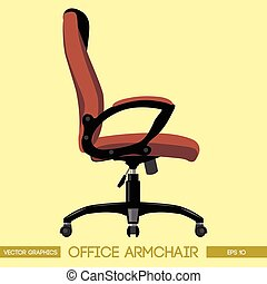 Black and brown modern office armch