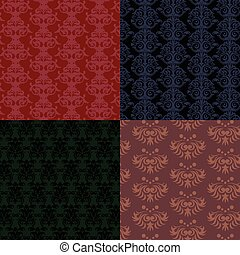 Patterns collection, flat style. Digital vector image