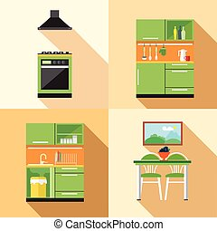 Kitchen home decoration set, flat s