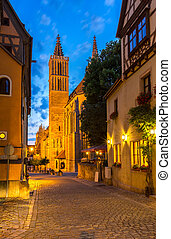 Rothenburg ob der Tauber Church, Franconia, Bavaria, Germany...