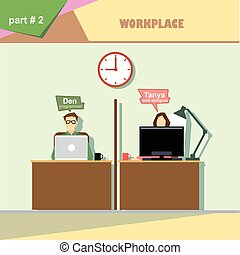 Business company roles situation in
