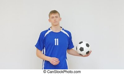 Soccer Player Showing Thumb Up