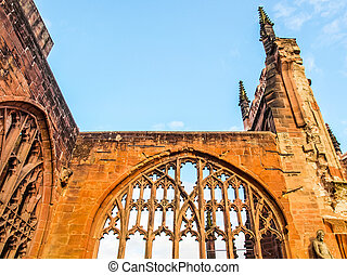 Coventry Cathedral ruins HDR - High dynamic range HDR Ruins...