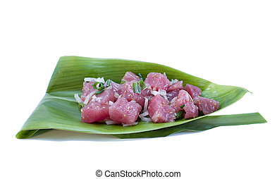 Tuna Sashimi Salad - Ahi Poke - Poke pronounced: Po-Kay is a...