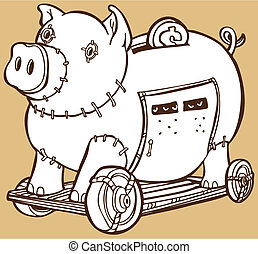 Trojan Horse Piggy Bank