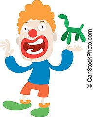 Clown character vector cartoon - Clown character performing...