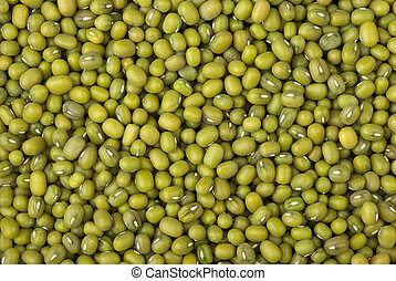 Green mung beans - Abstract background: Green mung beans