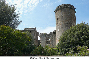 Fortifications in Nepi - Ruins of ancient city wall...