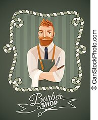 Barbershop Poster Template - Barbershop poster template with...