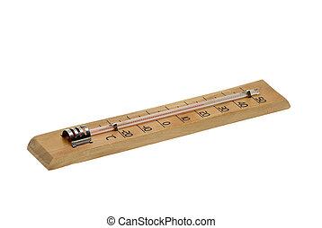 Álcool, ar, termômetro