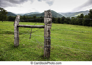 View from Cades Cove in Smoky Mountains National Park,...