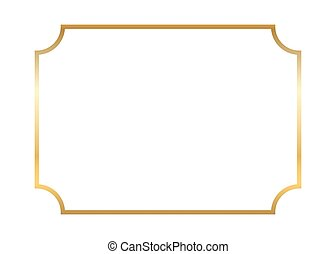 Gold frame. Beautiful simple