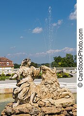 Cybele fountain at castle Schloss Hof, Austria - Cybele...