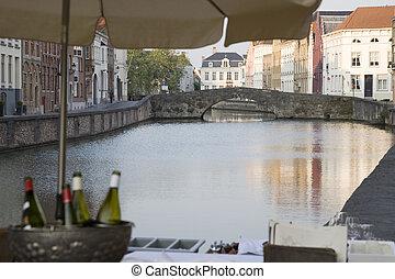 Canals of Bruges; Belgium; Europe