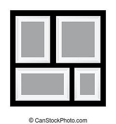 Multi Photo In One Frame Template - Vector stock of multi...