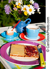 Colorful breakfast outdoor - colorful breakfast outdoor at...