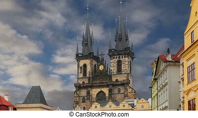 Church of Mother of God.Prague - The gothic Church of Mother...