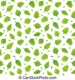 Green leaves seamless pattern - Greeen leaves seamless...
