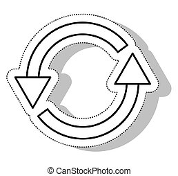 arrows around reload isolated icon vector illustration...