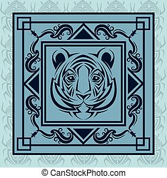 tiger tattoo animal design