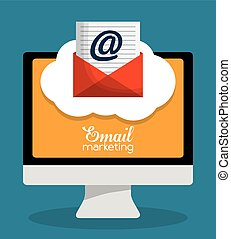 envelope email marketing send design. - envelope computer...
