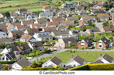 Aerial View Houses, Housing Estate,