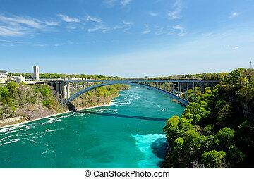 Niagara Falls - USA-Canada border, Niagara Falls, New York,...