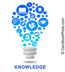 Knowledge Lightbulb Shows Know How And Wisdom - Knowledge...