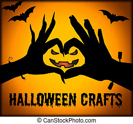Halloween Crafts Means Creative Artwork And Designing