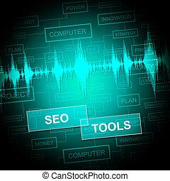 motor, representa, búsqueda,  optimization,  seo, herramientas,  software