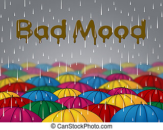 Bad Mood Shows Glum Grumpy And Angry - Bad Mood Showings...