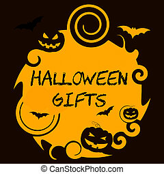 Halloween Gifts Represents Haunted Package Spooky Surprises...