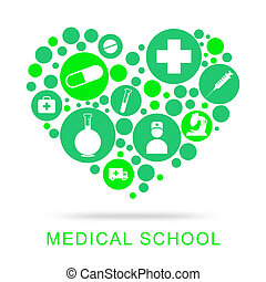 Medical School Represents University Learning And Education