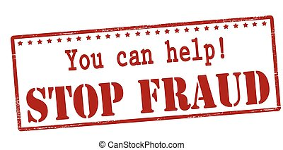 You can help stop fraud