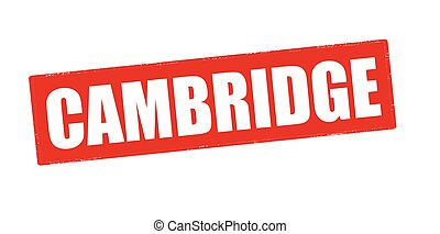 Cambridge - Rubber stamp with word Cambridge inside, vector...